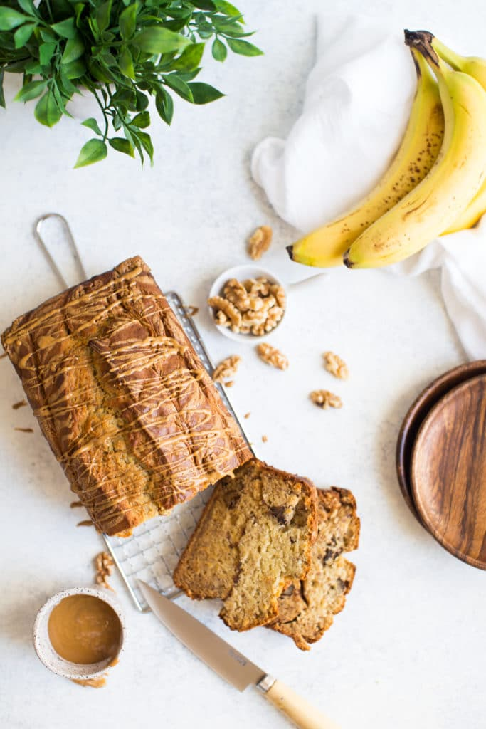 Cookie Butter Swirled Banana Bread