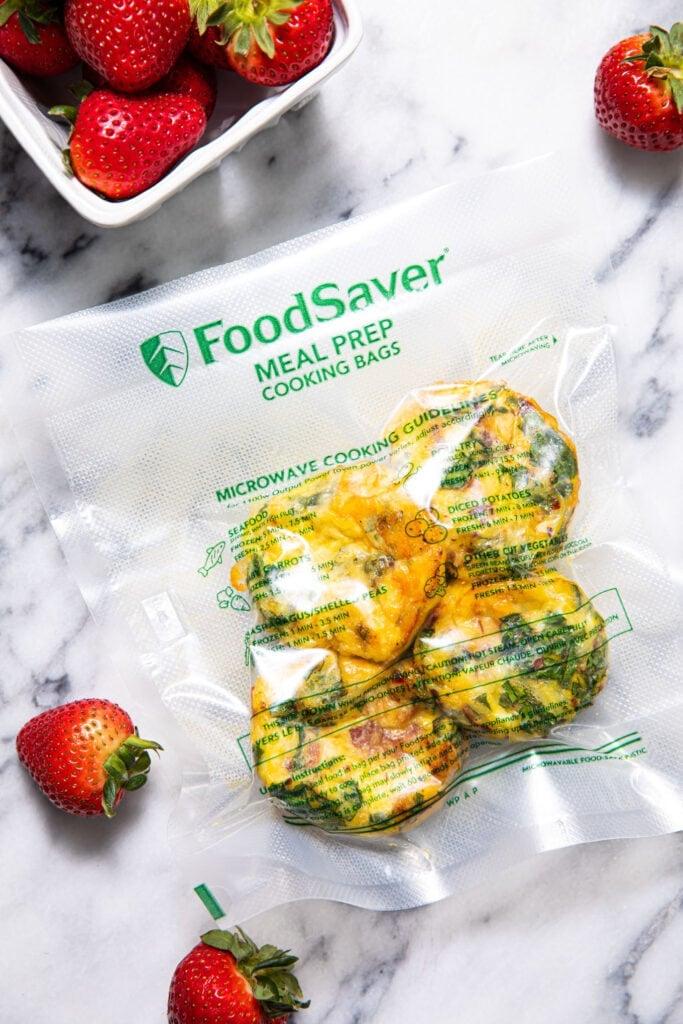 egg bites in food saver vacuum seal bag